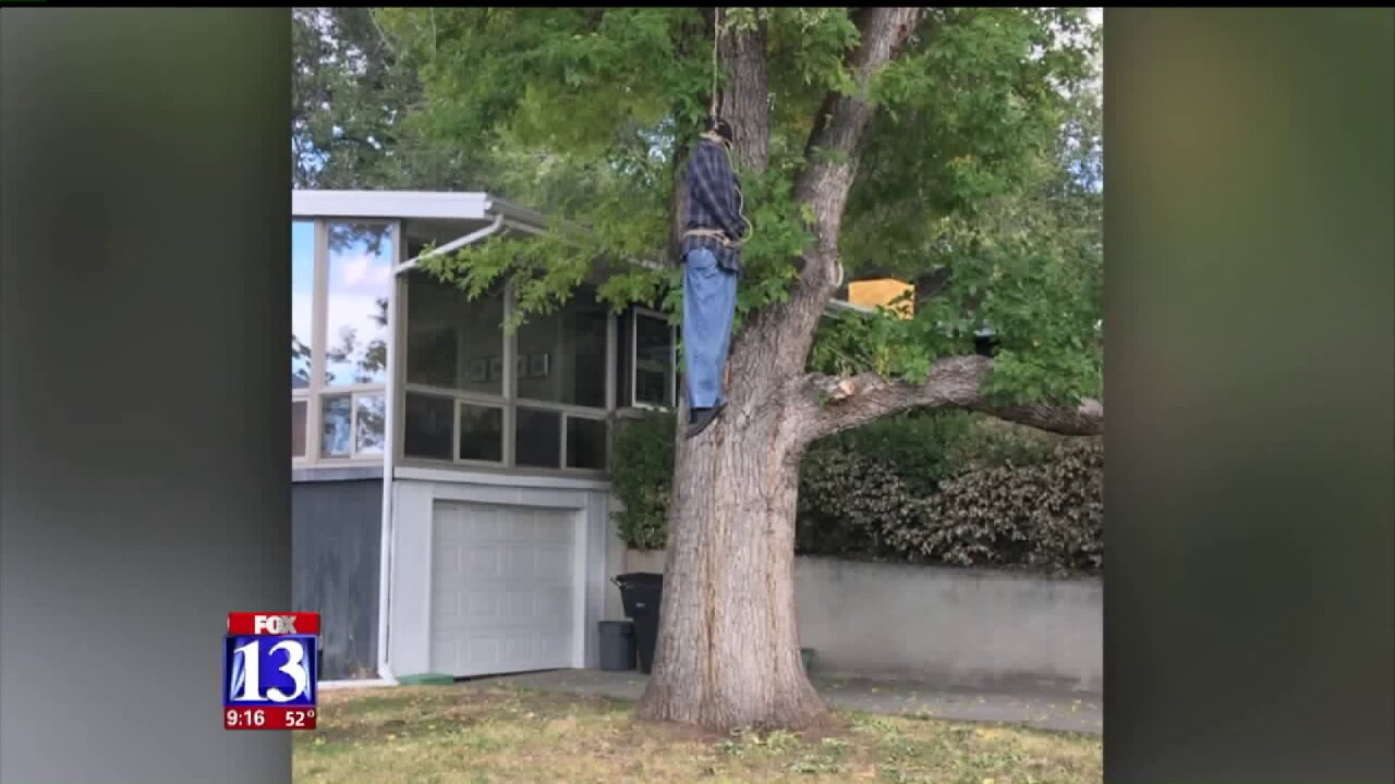 Holladay man makes changes to controversial Halloweendecoration