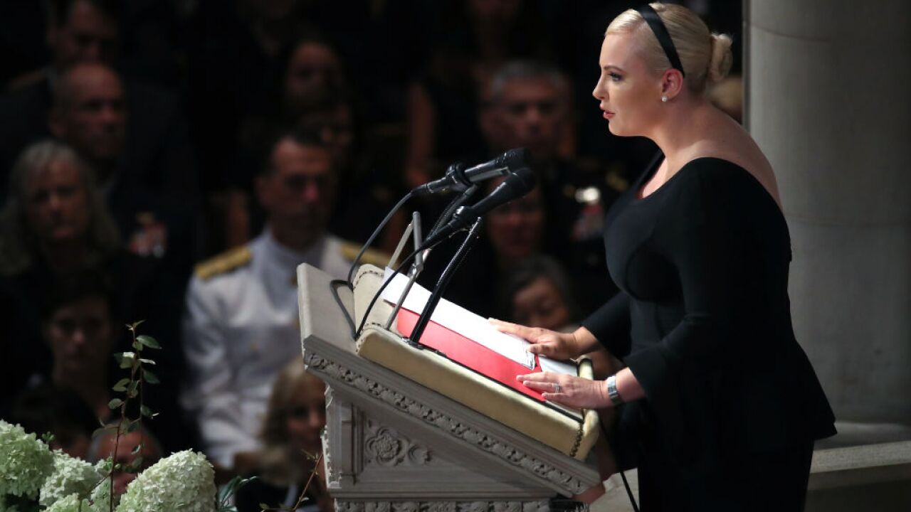 Trump attacks McCain over dossier, Meghan McCain swipes back