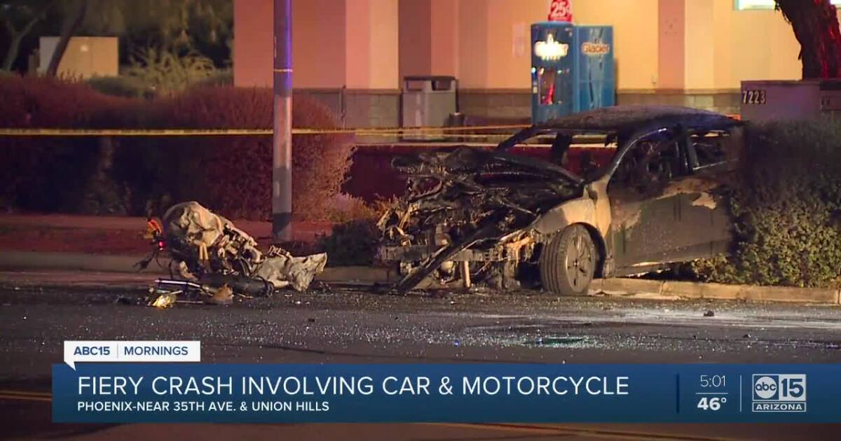 Police investigating fiery crash in north Phoenix