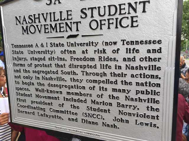 Photos: Marker In Nashville Honors Civil Rights Movement