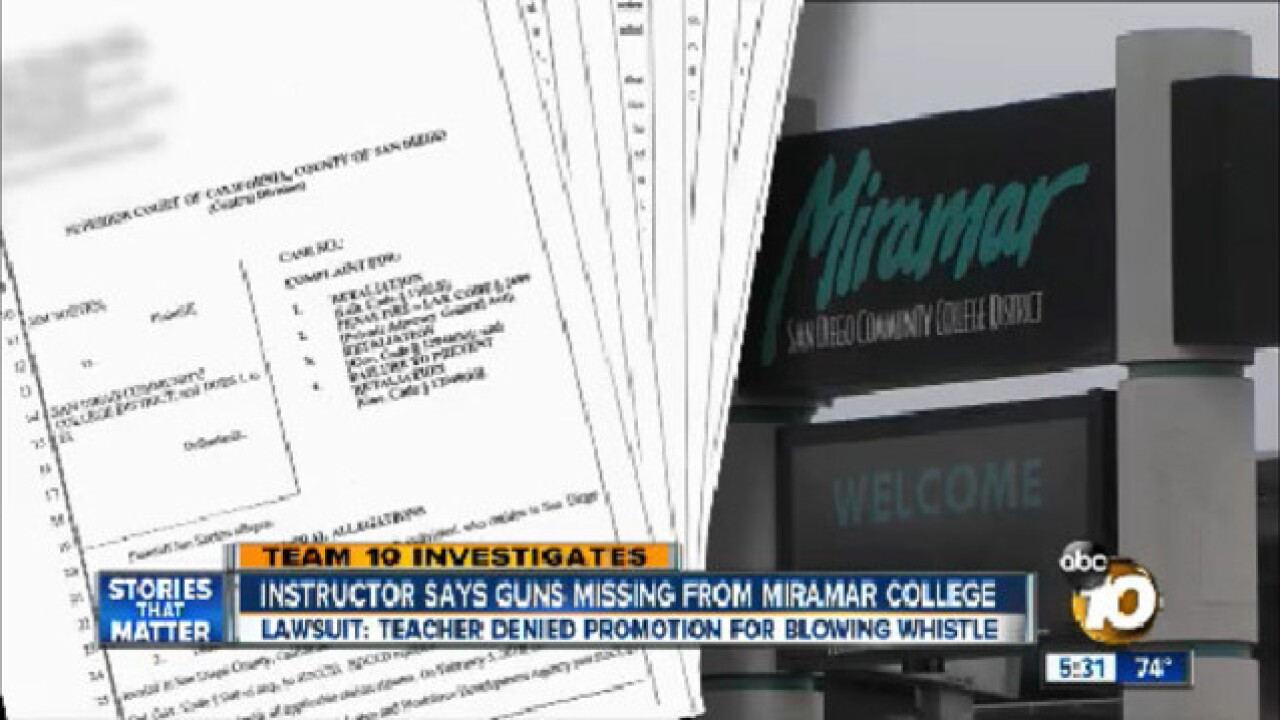 Instructor: Guns missing from Miramar College
