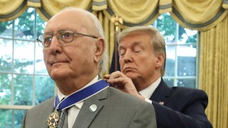 President Donald Trump Presents Medal Of Freedom To NBA Legend Bob Cousy