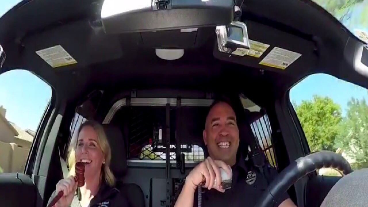Gilbert mayor, police officer take on carpool karaoke