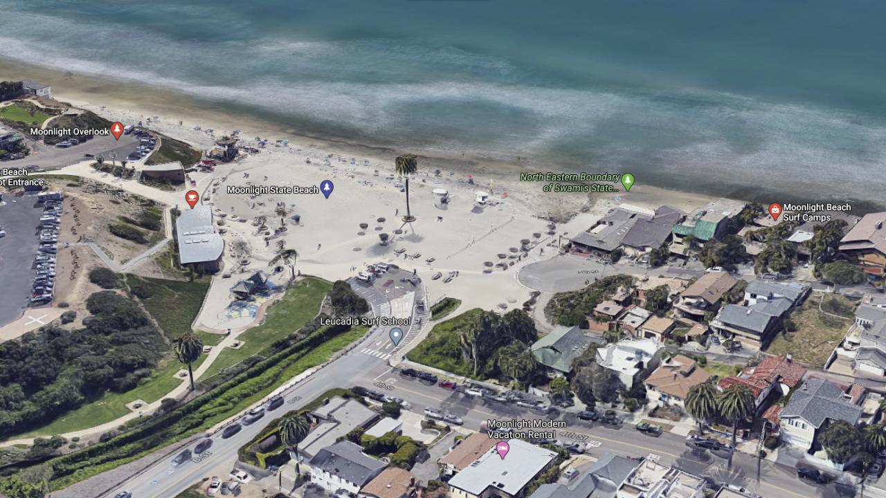 Moonlight State Beach (Google Maps)