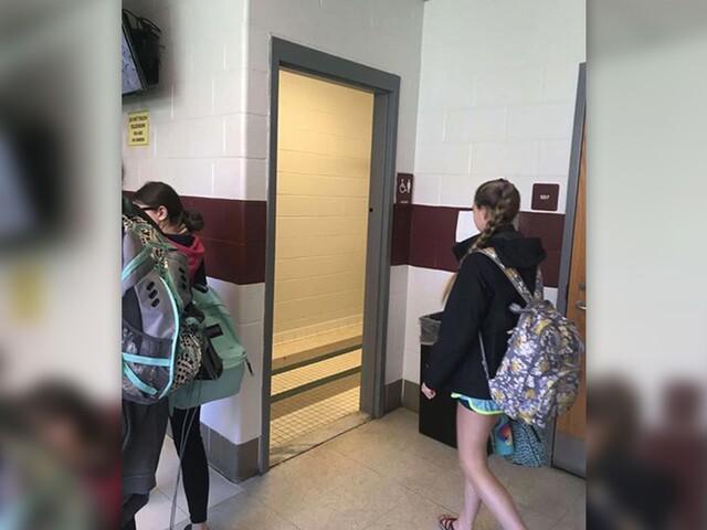 No door on bathrooms at Anne Arundel high school