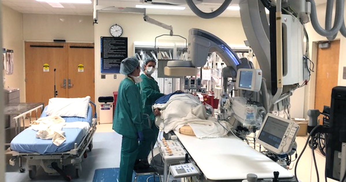 Young mom undergoes right heart catheterization