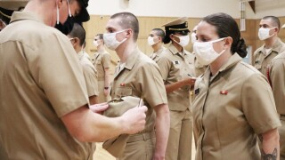 Perry Hall women with two Master's degrees training to become Navy Officer
