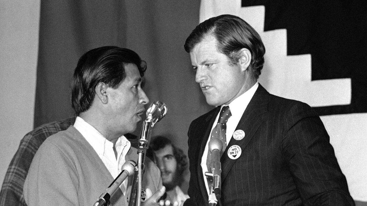 Cesar Chavez And Ted Kennedy