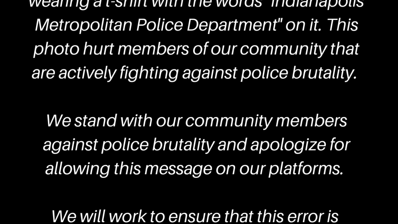 Indy Pride's Statement
