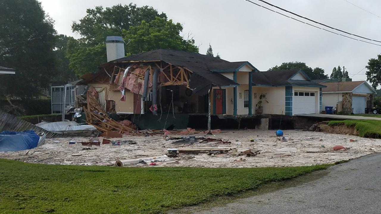 Depression forms at Land O' Lakes home