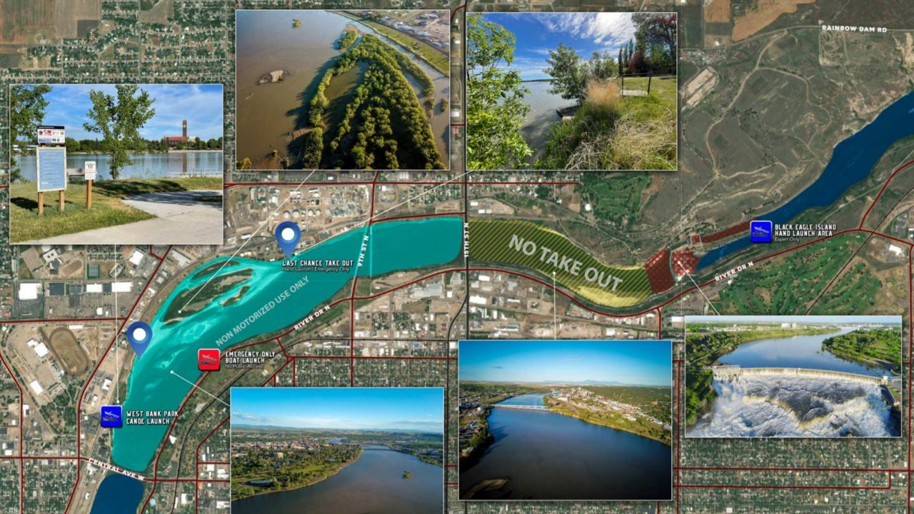 """Great Falls Area Chamber of Commerce unveils """"Missouri River Safe Use Map"""""""