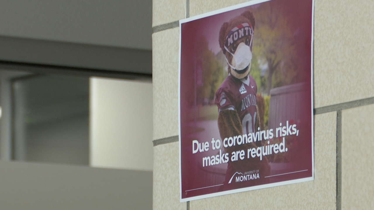 University of Montana to offer COVID-19 testing to symptomatic students only