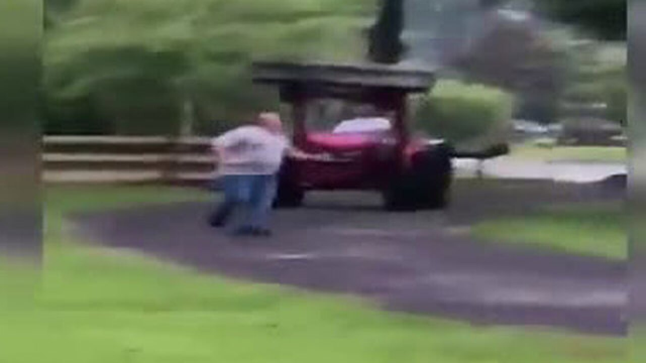 VIDEO: Florida man runs for his life as neighbor chases him on tractor