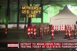 Detroit to begin drive-thru coronavirus testing today at old State Fairgrounds