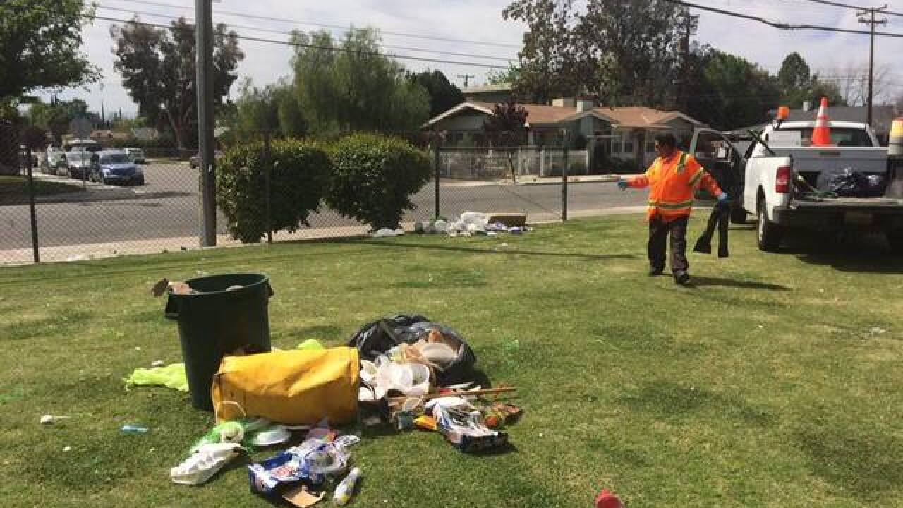 City workers clean up Bksfd parks after Easter