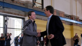 Governor Bullock surprised, honored at MSU's Romney Hall