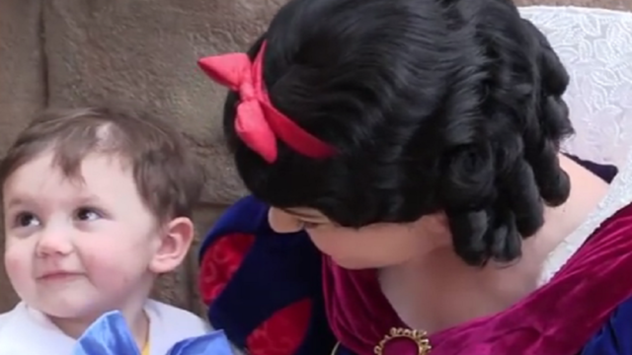 WATCH: Boy with autism adores Snow White actress