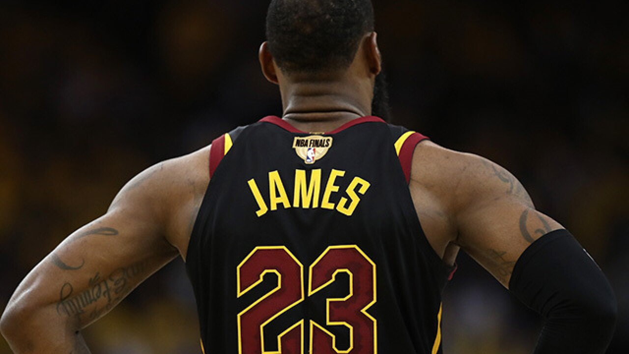 LeBron's Game 1 Finals jersey surpasses $90K bid