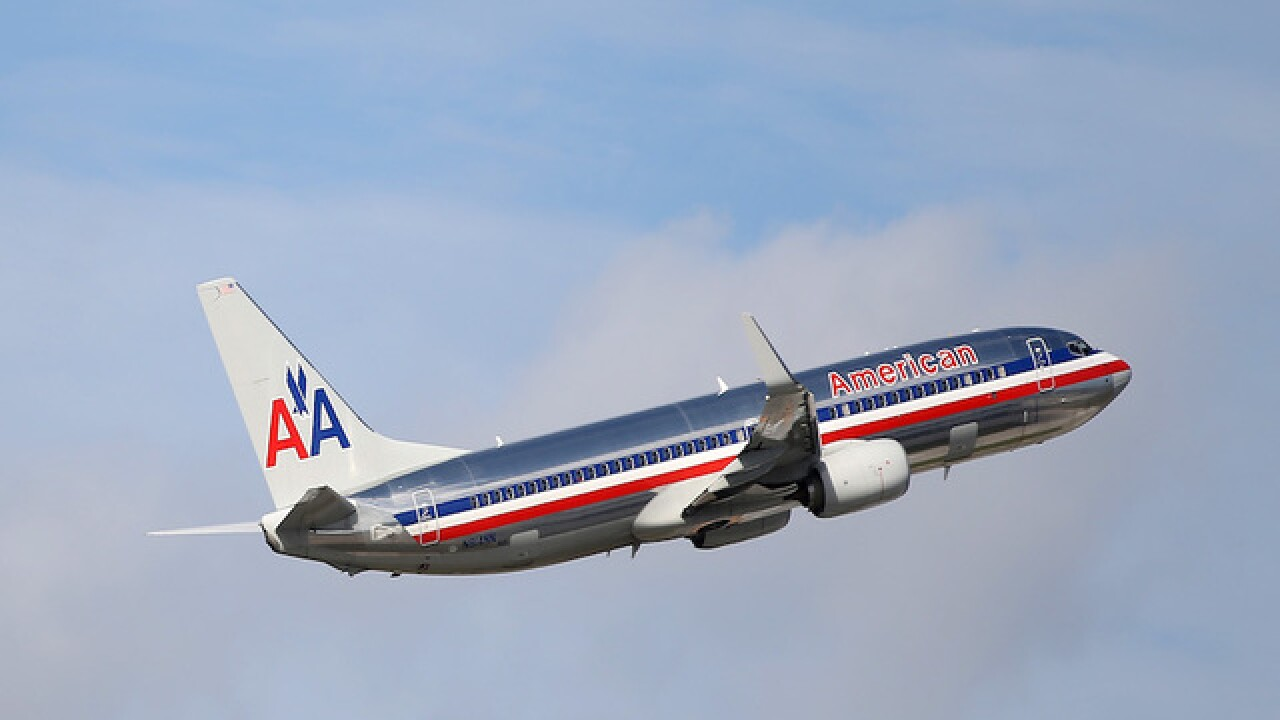 American Airlines plane lands safely despite engine flames