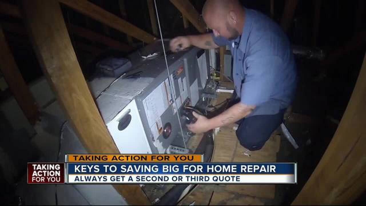 Prices for A-C repair run into the thousands. Here's how the homeowner could have save hundreds