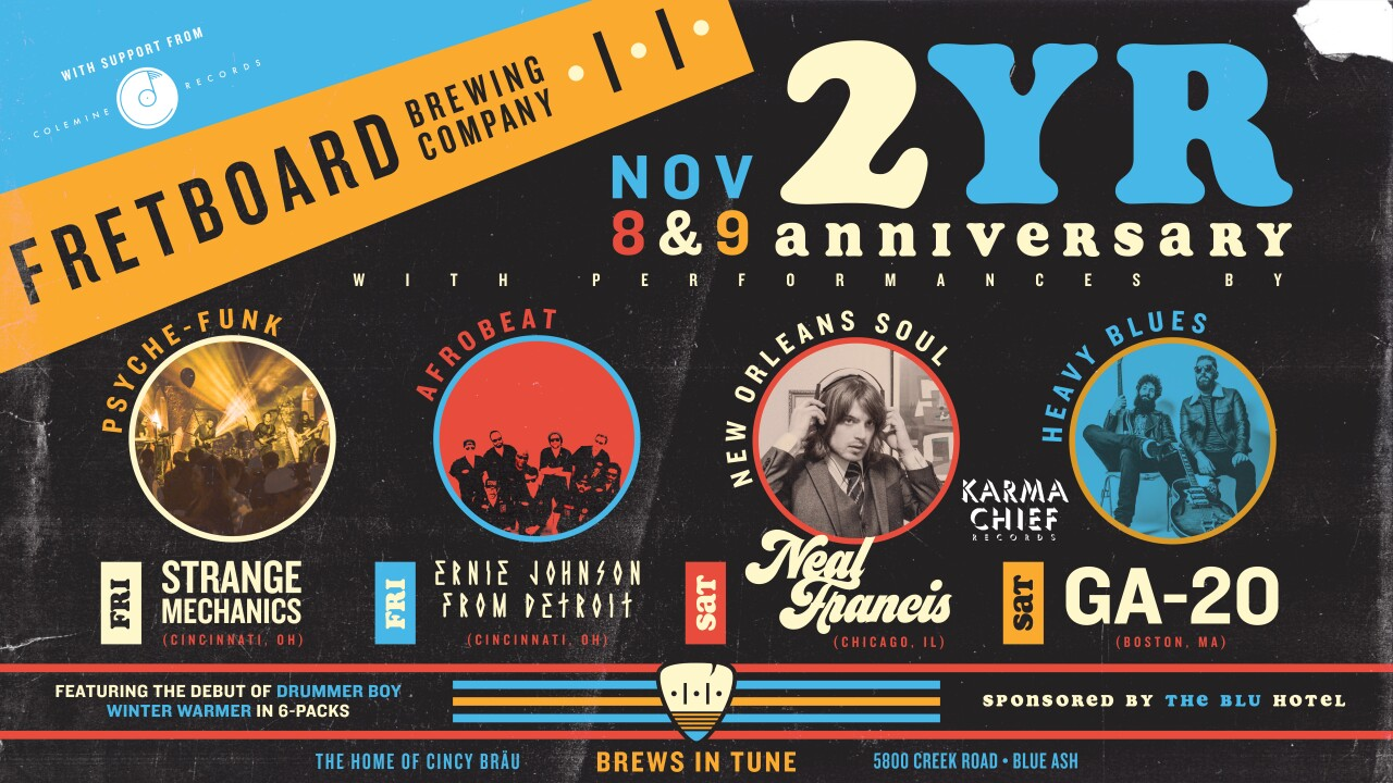Fretboard Brewing Company 2YR Anniversary