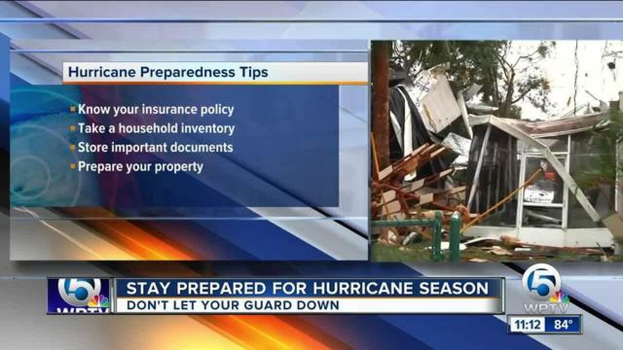 Stay prepared for hurricane season