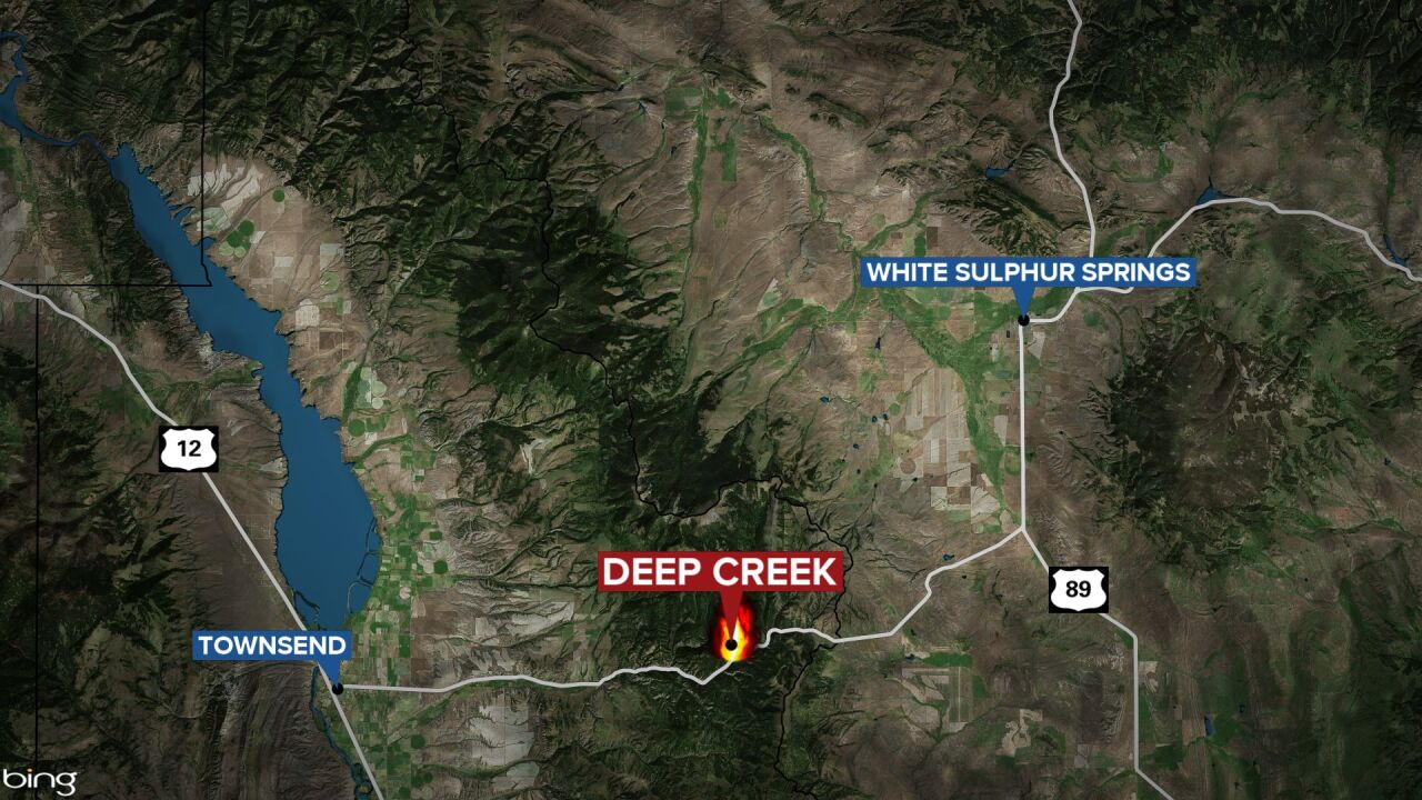 Deep Creek Fire between Townsend and White Sulphur Springs
