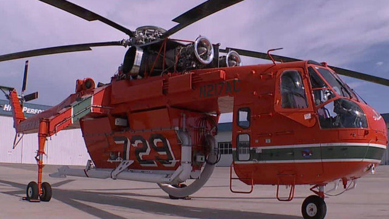 SDG&E's Skycrane facing challenging fire season