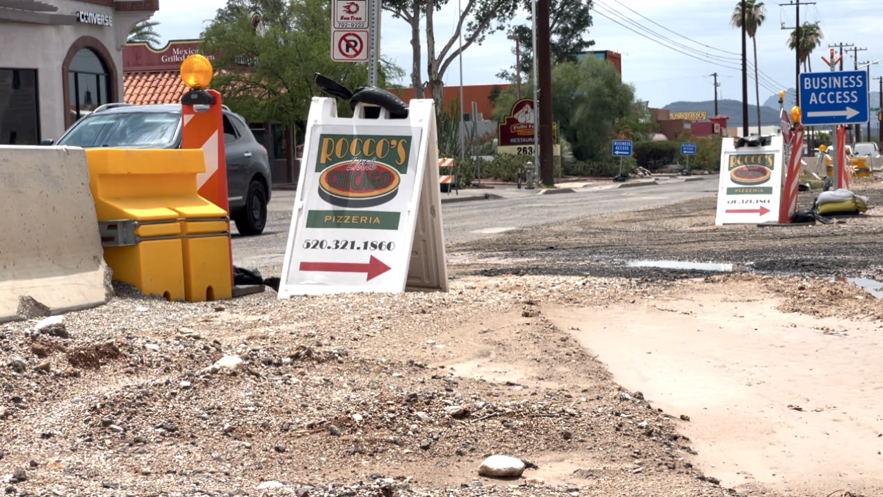 City of Tucson doing their part to keep storm debris off streets