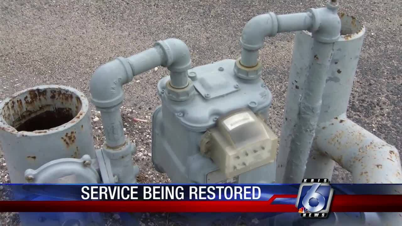 Gas service being restored in Alice