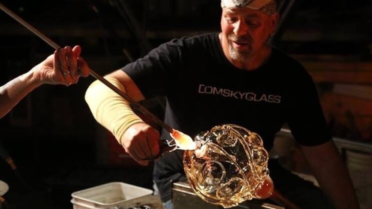 Domsky Glass offers glimpse into their studio
