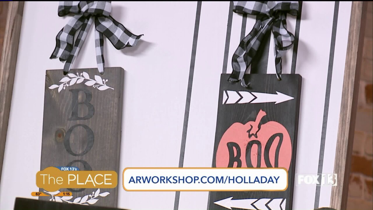 'Boo' your neighbors with this DIY door-sign from ARWorkshops