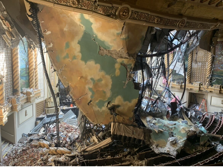 Sandusky State Theater damaged in June 2020 storm