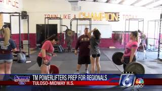 Tuloso-Midway girls powerlifting workout