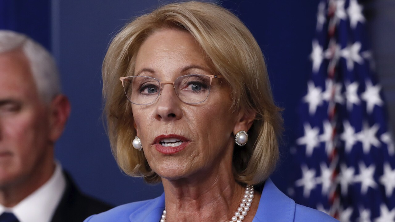 States sue to block DeVos' campus sexual assault overhaul