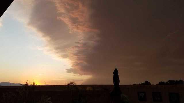 Monsoon storm brings lightning, rain, dust, hail (July 30, 2018)