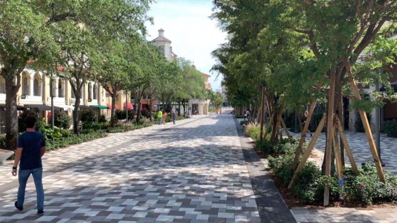 S. Rosemary Avenue approaching Okeechobee Boulevard in West Palm Beach.