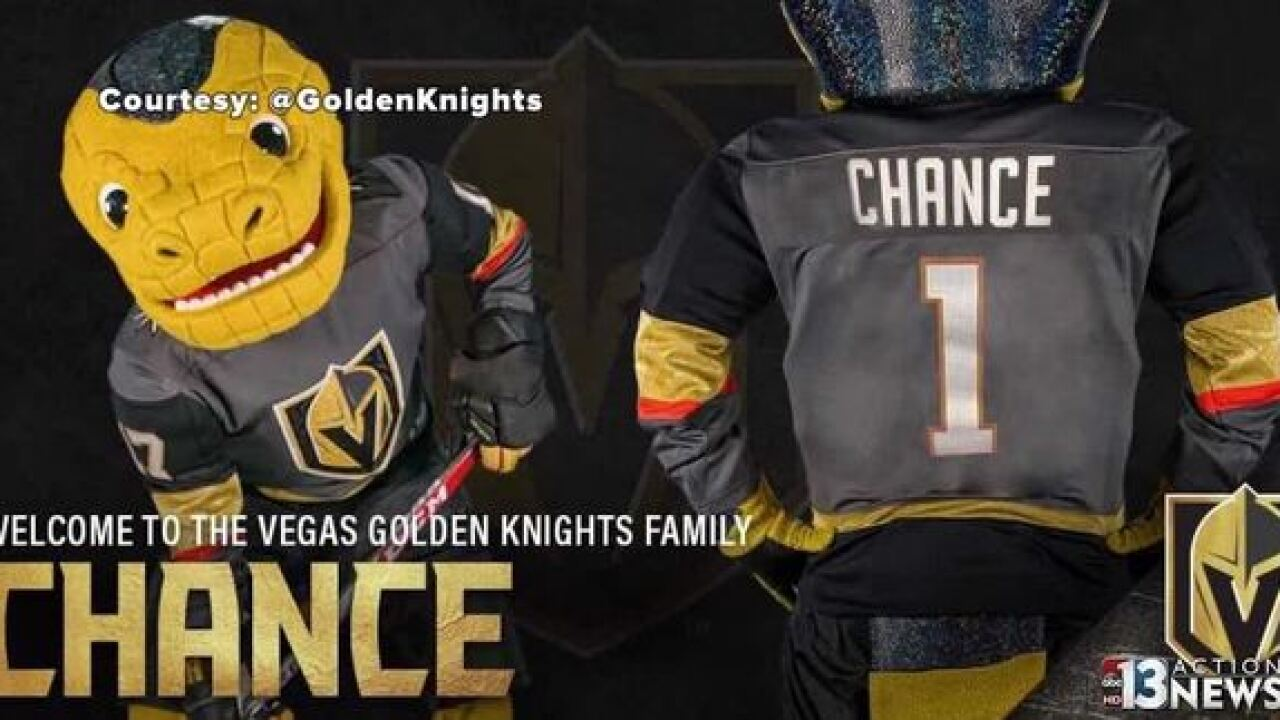 Vegas Golden Knights mascot is a Gila monster?