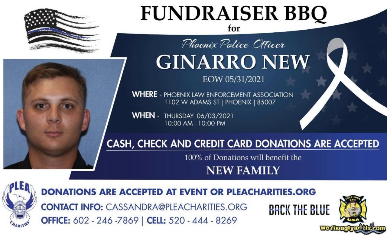 Officer New fundraiser BBQ