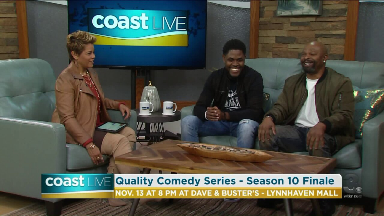 Talking with Quincy Carr and thirty year comedy veteran Laughin' Lenny on CoastLive