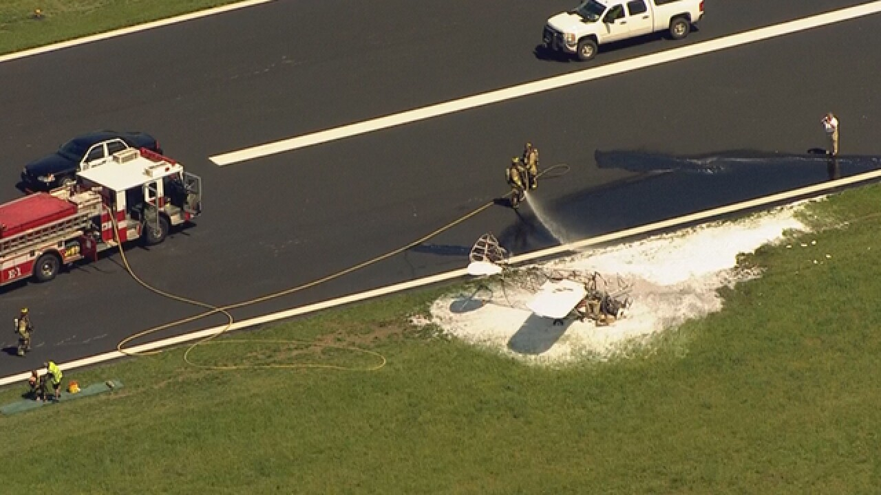 Small Plane Catches Fire On Gallatin Runway