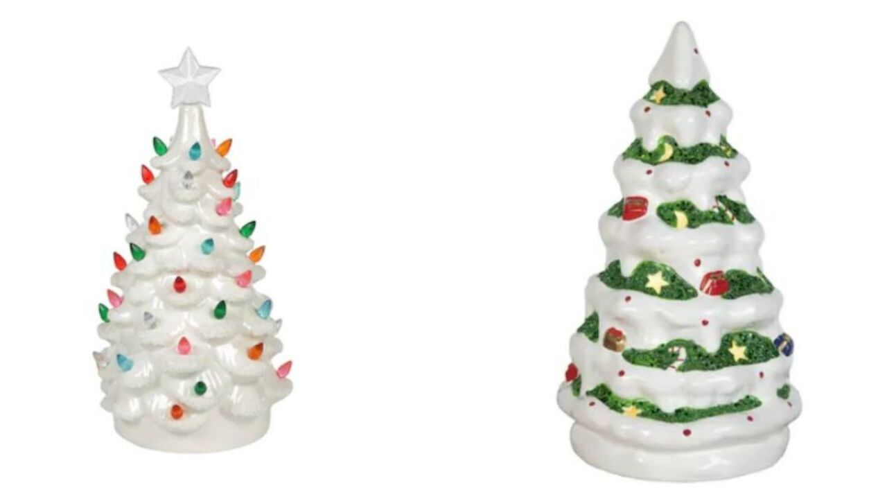 Lowe's has vintage white ceramic trees for just $10
