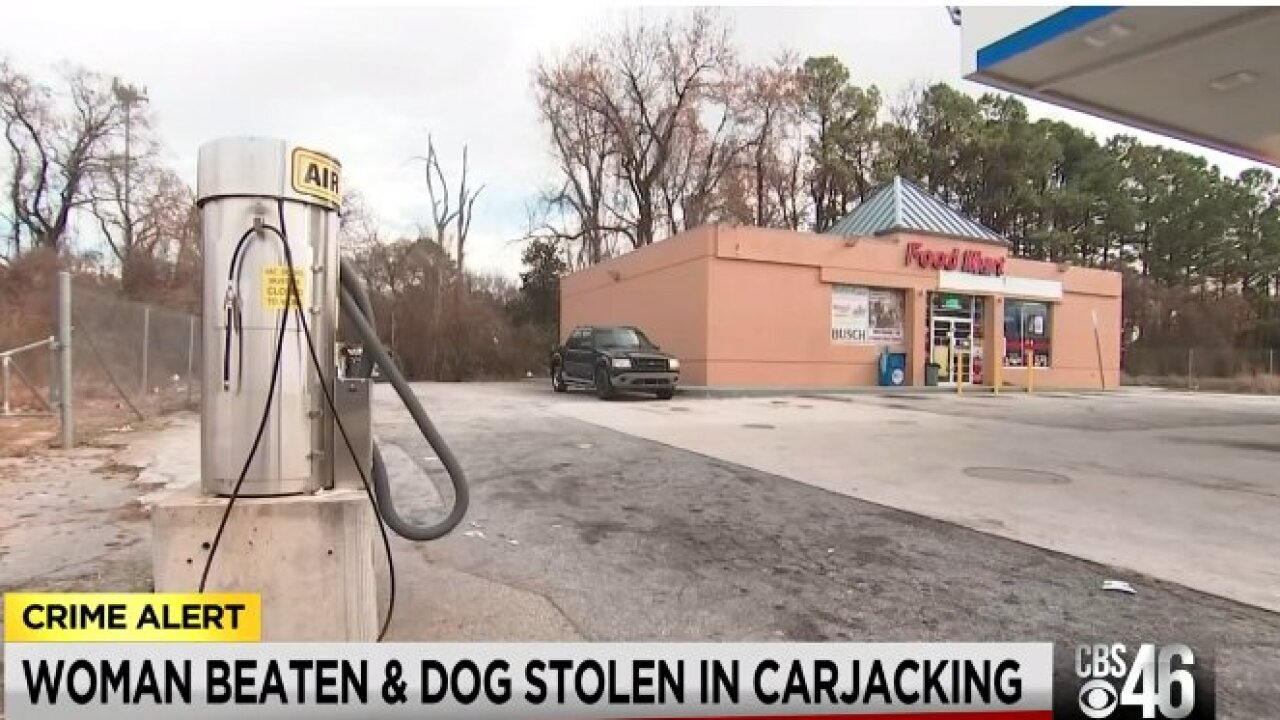 Gas station carjacking