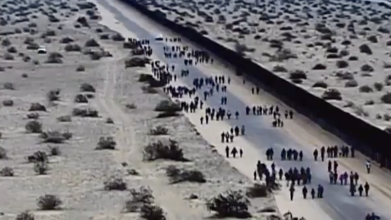 VIDEO: Group of 376 illegally crosses border near Yuma