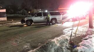 SUV crashes into bar