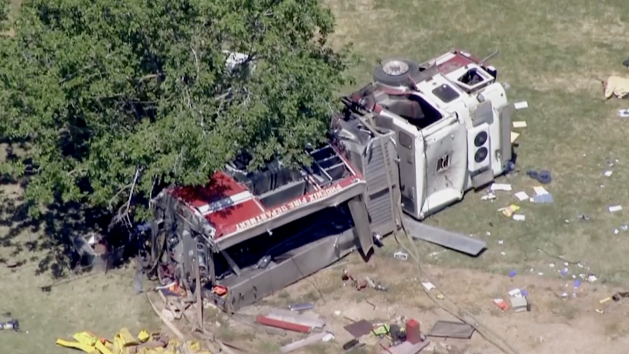 KNXV Phoenix Fire Department crash in west Phoenix