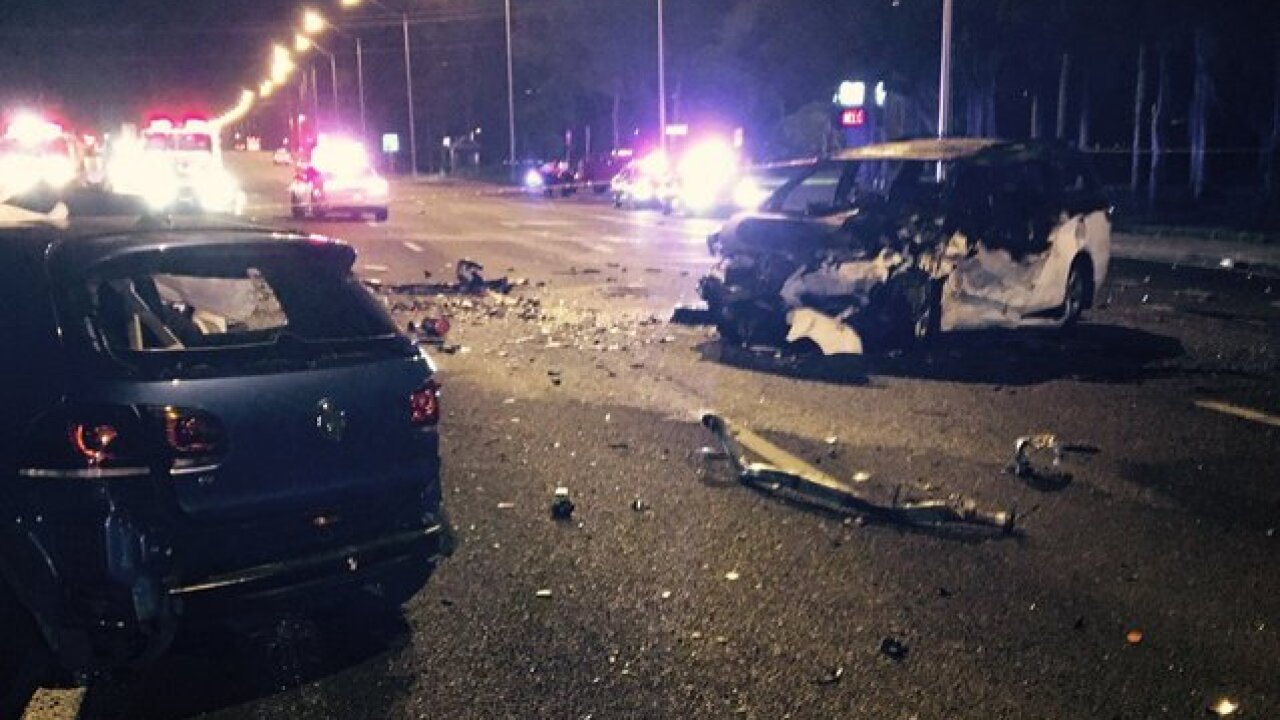 Multi-car crash in Tampa