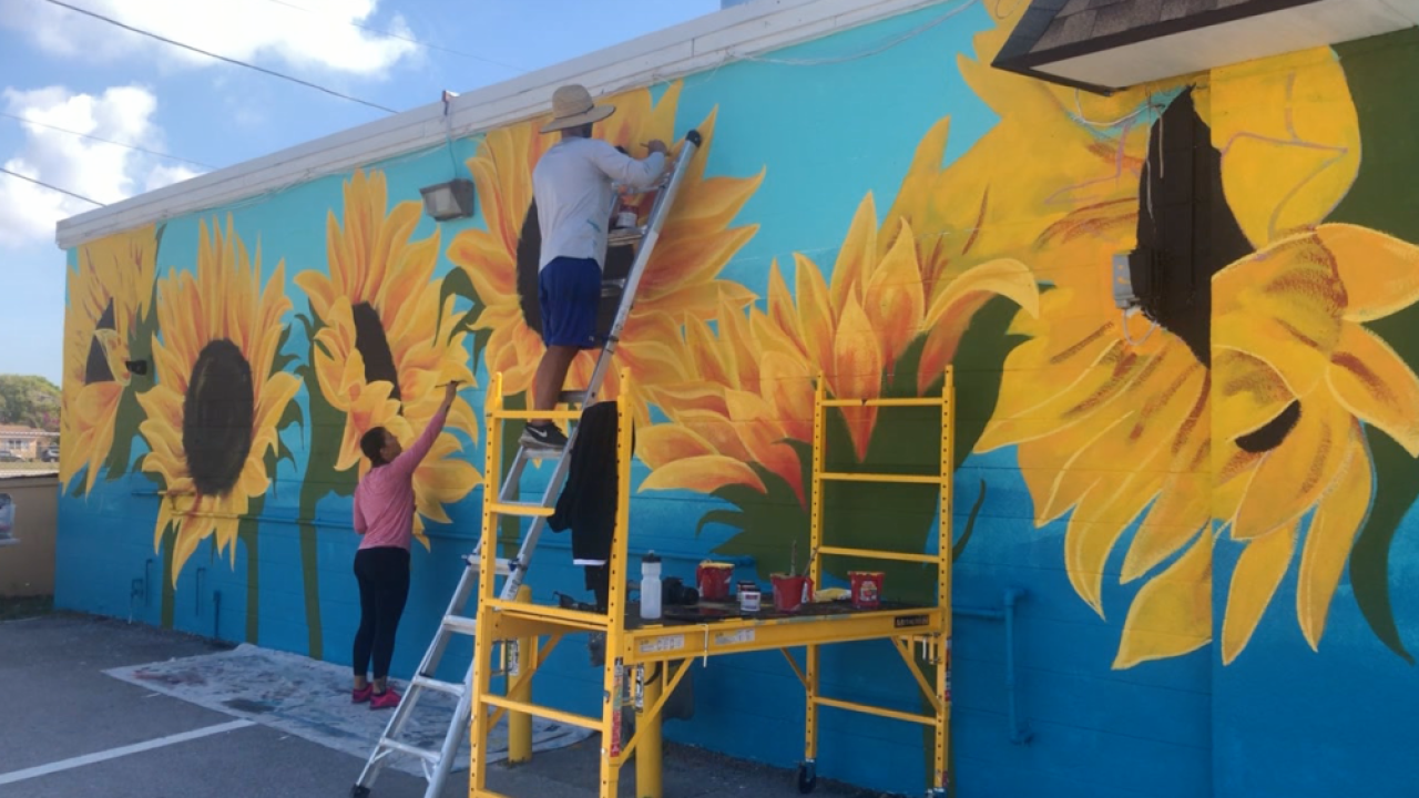 Happy Mural Project sunflowers