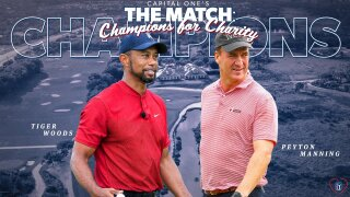 Tiger Woods and Peyton Manning, champions of The Match: Champions for Charity