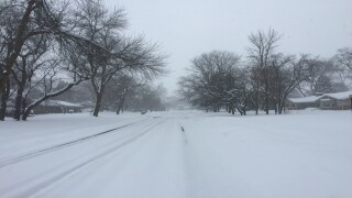 More lake effect snow fell in Racine Co. Tuesday